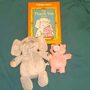 Piggy & Gerald Plush Toys and Book